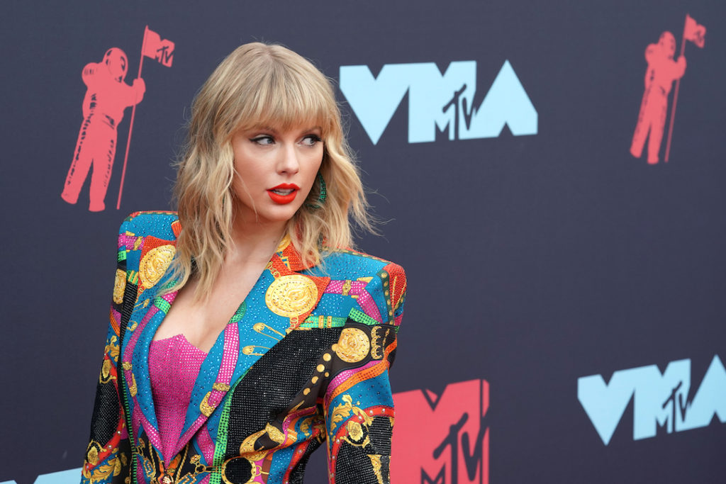 Taylor Swift attends the MTV Video Music Awards in New Jersey in August 2019